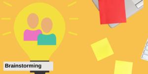 Brainstorming ist eine wichtige Kreativitätstechnik, nicht nur beim Design Thinking